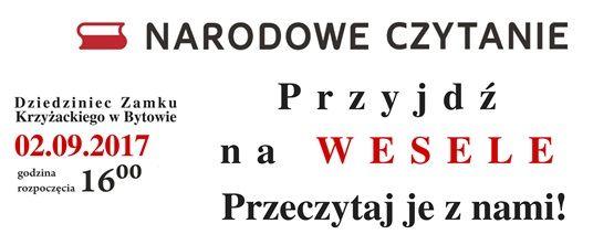 Narodowe Czytanie Wesela Stanis³awa Wyspiañskiego