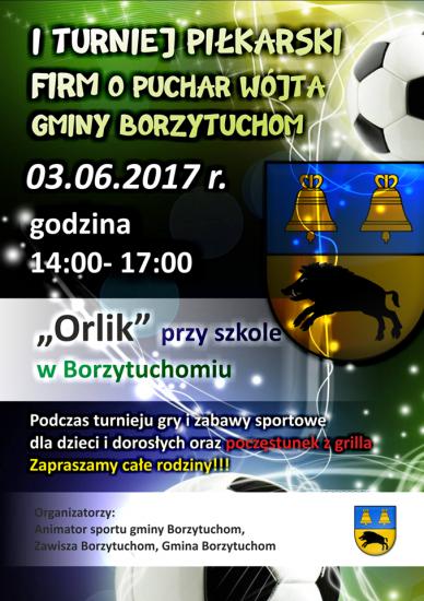 Turnieju Pi³karski Dla Firm o Puchar Wójta Gminy Borzytuchom