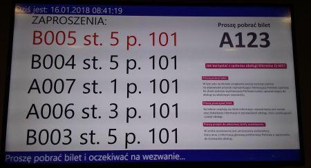 Elektroniczny system kolejkowy w Wydziale Komunikacji i Drogownictwa
