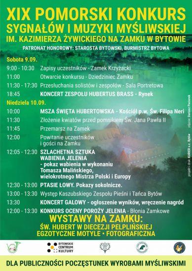 XIX Pomorski Konkurs Sygna³ów i Muzyki My¶liwskiej na Zamku w Bytowie im. Kazimierza ¯ywickiego