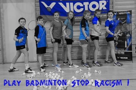 """Play Badminton – Stop Racism"""