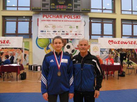 Br±zowy medal Agaty Kazimierczak w III Pucharze Polski Kadetek w zapasach