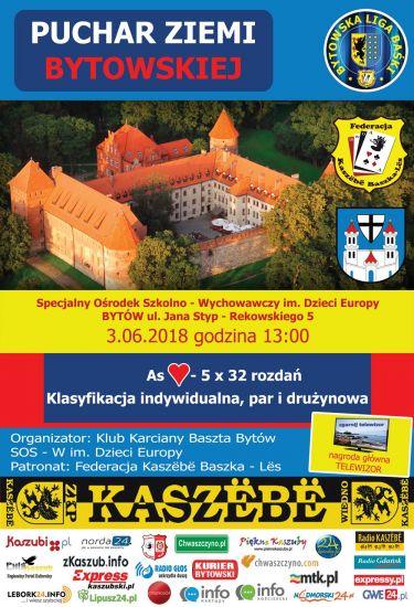 Klub Karciany Baszta Bytów zaprasza na Puchar Ziemi Bytowskiej.