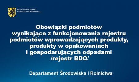Rejestr BDO