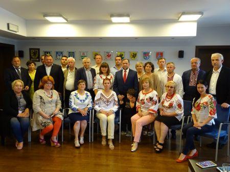 Wizyta samorz±dowców z Rejonu Horochowskiego