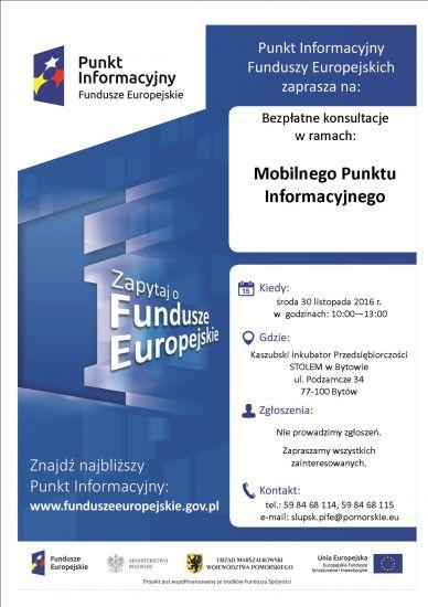 Bezp³atne konsultacje dla osób zainteresowanych pozyskaniem Funduszy Europejskich