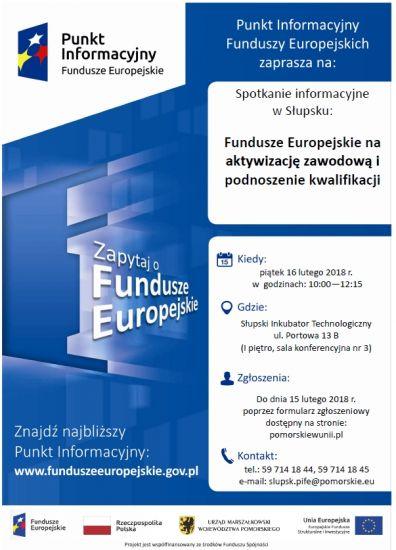 Fundusze Europejskie na aktywizacjê zawodow± i podnoszenie kwalifikacji