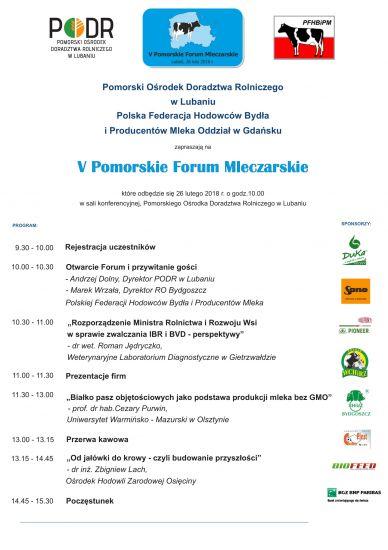 V Pomorskie Forum Mleczarskie