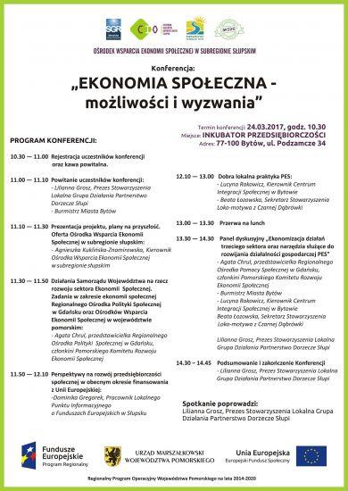 """Konferencja """"Ekonomia spo³eczna – mo¿liwo¶ci i wyzwania"""""""