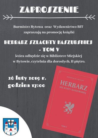 Promocja ksi±¿ki: Herbarz Szlachty Kaszubskiej - Tom V