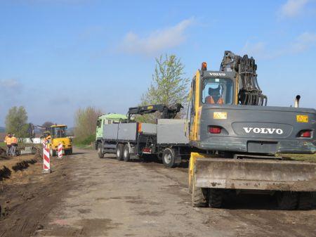 Budowa drogi w Udorpiu