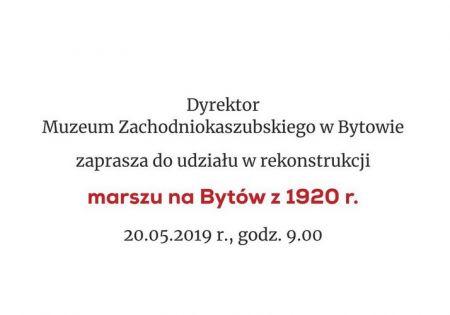 Rekonstrukcja marszu Kaszubów na Bytów z 1920 r.