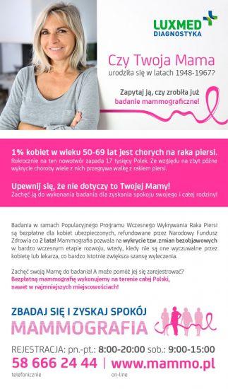 Bezp³atne badania mammograficzne