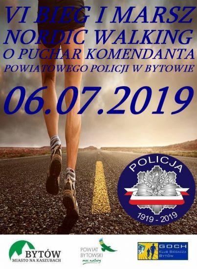 VI Bieg i Marsz Nordic Walking o Puchar Komendanta Powiatowego Policji w Bytowie
