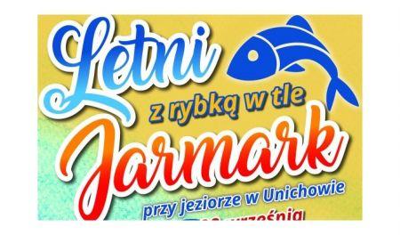 Letni festyn z rybk± w tle przy jeziorze w Unichowie