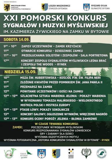 XXI Pomorski Konkurs Sygna³ów i Muzyki My¶liwskiej im. Kazimierza ¯ywickiego na Zamku w Bytowie