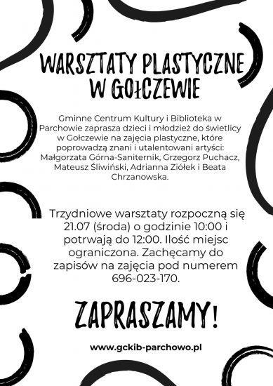 Warsztaty plastyczne w Go³czewie